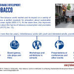 Graphic Unfairtobacco, SDG-Factsheet Tobacco | Education