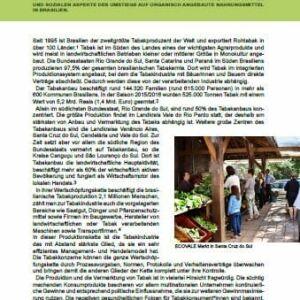 Fallstudie Ökologische Landwirtschaft Brasilien