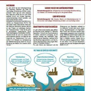 SDG-Factsheet Nr. 5 Tabak | Wasser | Meere, Gewässer, Nikotin, Chemikalien, Pestizide