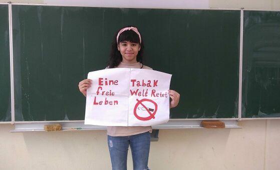 Schülerin ans UN-Kinderrechtskomitee, Plakat